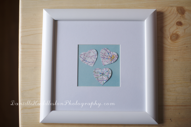 DIY Heart Map Art ~Danielle Huddleston Photography
